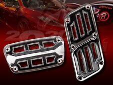 CHROME BLACK MUSCLE ZINC AUTOMATIC BRAKE GAS PEDAL PADS FOR BMW JAGUAR