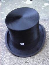 Large Antique Christys London Black Silk Top Hat. Sz 7 1/8 ..
