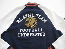 POLO RALPH LAUREN Men's Fleece Bulldog Patch Varsity Letterman Jacket XXL