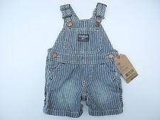 OSHKOSH Latzhose Overall kurze Hose Kinder Shorts Jeans blau weiß gestreift NEU
