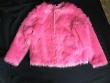 H & M Hot Pink Faux Fur Jacket