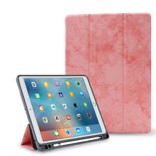 Shockproof TPU Leather Smart Stand Case Cover With Pencil Holder For Apple iPad
