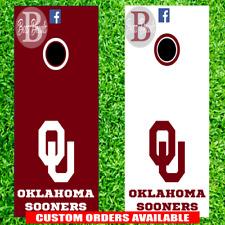 Oklahoma Sooners Cornhole Set of 6 Vinyl Decal Stickers University Bean Bag OU