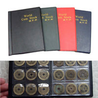 120 Coin Collection Holders Storage Money Penny Pocket Album Book Folder Hot