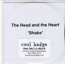 (EQ364) The Head And The Heart, Shake - 2013 DJ CD