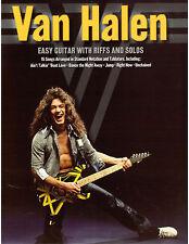 Van Halen Easy Guitar Tab Sheet Music- Play Like Eddie! Jump, Right Now More!