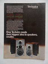 1978 Print Ad PANASONIC Technics Speakers Electronics ~ Linear Phase Bookshelf