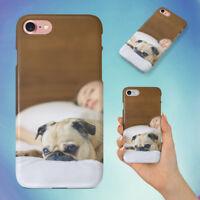 BED BEDROOM CUTE DOG PUG HARD BACK CASE FOR APPLE IPHONE PHONE