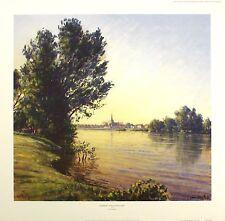 Lionel Aggett sunrise sully-sur-loire signé ltd! taille: 52cm x 54cm neuf