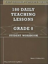 Easy Grammar Ultimate Series: 180 Daily Teaching Lessons Grade 8 Workbook