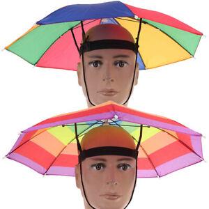 1PC Foldable Fishing Umbrella Hat Cap Headwear Umbrella Anti-Sun Hat With st.zh