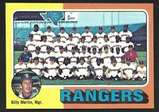 1975 TOPPS LARGE #511  TEXAS RANGERS Team Card  ( Unmarked Boxes )  NM  A