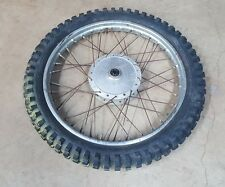 1972 YAMAHA DT360 DT 360 OEM original front WHEEL tire drum hub rim