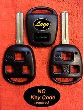 (2) FREE PRE-CUT KEYS REPAIR your SPARE / BROKEN 3 BUT REMOTE FOB KEY for LEXUS