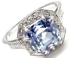 Rare! Authentic Ivanka Trump Platinum Diamond Sapphire Engagement Ring