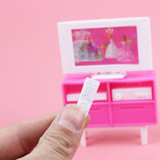 Plastic Play TV Stand Cabinet 1/6 For Barbie Doll's House Dollhouse Furniture