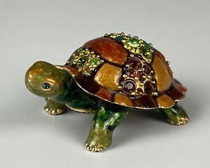 "Jay Strongwater ""Charlie"" Miniature Turtle Swarovski Crystals Mint Condition!!"