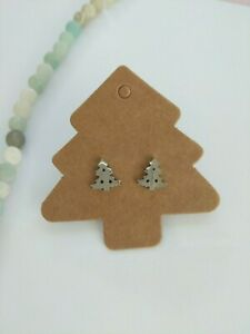 Christmas Tree stud earrings silver,gold,rose gold
