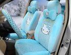 New 1 Set Cartoon Hello Kitty Universal Car Seat Cover Women Cushion Plush Tla11