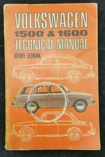 Volkswagen Technical Manual - 1500 & 1600 by Henry Elfrink  – 1966,  Rare Manual
