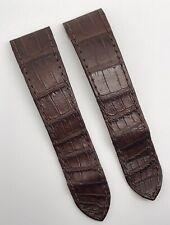 Authentic Cartier Santos 100 23mm x 21mm Brown Alligator Watch Strap Band OEM