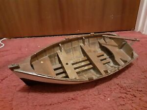 "Large 16"" long Wooden clinker built model boat very nice model , Very realistic"
