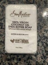 Shea Moisture 100% Virgin Coconut Oil Shea Butter Soap 8 oz Bar - New.