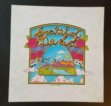 Ultra Rare Grateful Dead Concert T Shirt Proof Copywrite G.D.R. 1982 Irrobino