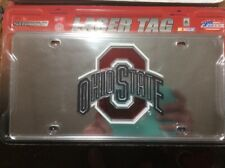 NEW The Ohio State University OSU Logo Laser Tag Metal License Plate NCAA MIRROR