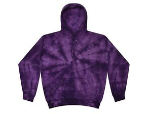 Tie Dye Multi-Color Hoodies, Adult S to XXXL 80% Cotton, L/S, Pockets No Zipper