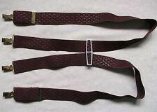 Braces Suspenders Mens Vintage CLIP ON 1970s SKA BURGUNDY