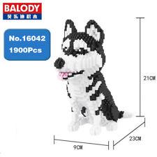Balody Siberian Husky Dog Animal Pet DIY Diamond Mini Building Nano Blocks Toy