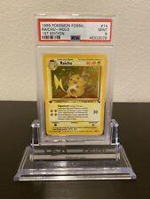Pokemon Fossil 1st Raichu Holo Psa 9 Wotc