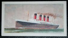 MAURETANIA   Cunard Atlantic Liner    Wallsend    Illustrated Colour Card # VGC
