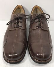 Johnston Murphy Brown Leather Sheepskin Lace Up Shoes Mens 12