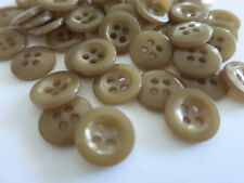 15 BROWN BUTTONS 4 Hole 14mm LOCATED IN AUSTRALIA A81