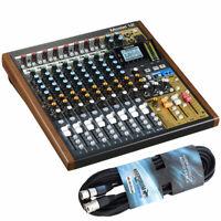 Tascam Model 12 Mischpult mit Audio-Interface + keepdrum XLR Mikrofonkabel 6m