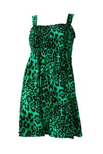 Darkside Tunic Dress, Leopard Print, Green, Red, Pink, Purple, Natural, One size