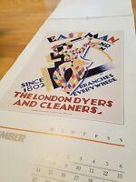 Vintage E. McKnight Kauffer Calendar 1981  12 -1920 Advertisements Prints