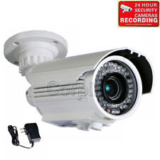 Security Camera 700TVL Outdoor 42 IR LEDs 4-9mm Lens w/ SONY Effio CCD Power a80