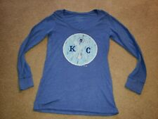 Kansas City Royals L/S Shirt T-shirt Womens sz Extra Large Majestic Threads Mlb