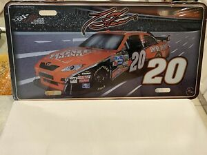 NASCAR Tony Stewart #20 Home Depot Metal License Plate