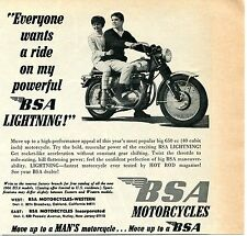 1966 Bsa Motorcycles Everyone Wants A Ride On My Powerful Bsa Lightning Print Ad