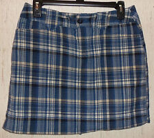 WOMENS ST. JOHN'S BAY stretch NAVY BLUE PLAID SKORT  SIZE 6