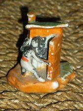 """Vintage Black Americana Outhouse Figurine 2 3/8""""H"""