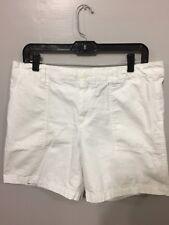 Gap Women's Optic White Size 10 Denim Casual Shorts A-5