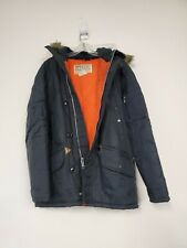 Vintage Montgomery Ward Mens M field Jacket Coat Lined blue rubber backing