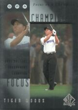 2001 SP Authentic Golf Trading Cards Focus on a Champion #FC4 Tiger Woods