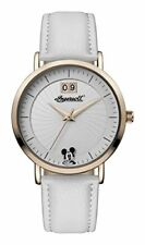 Ingersoll Disney Womens Union Quartz Watch with White Dial and White PU Leather