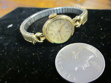 14K GOLD FILLED LADIES HAMILTON 17 JEWEL WATCH CAL 721 runs few seconds